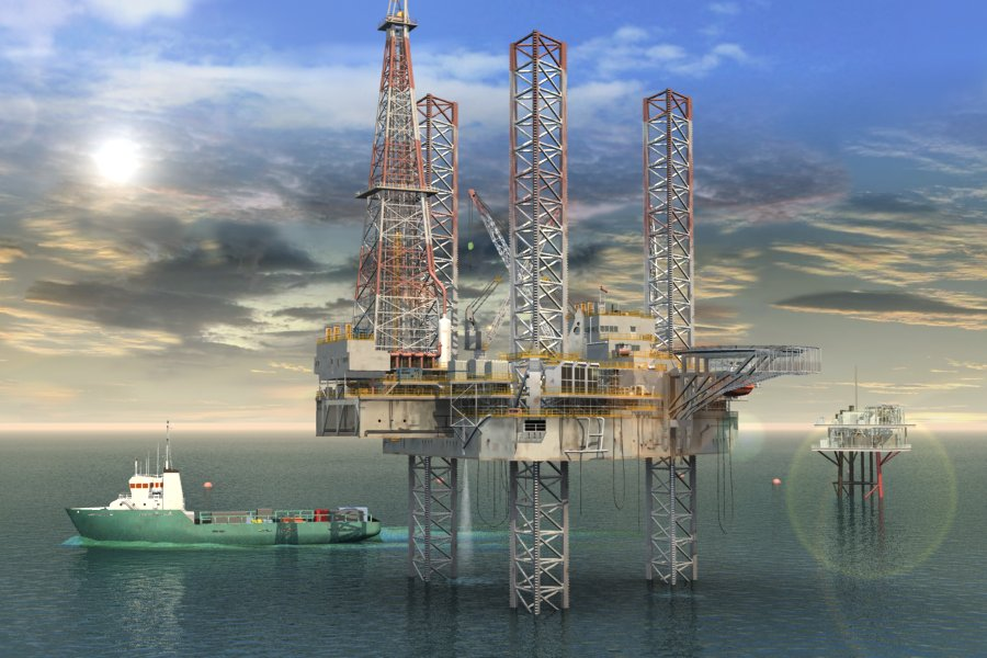 Offshore Oil Rig : Jack up