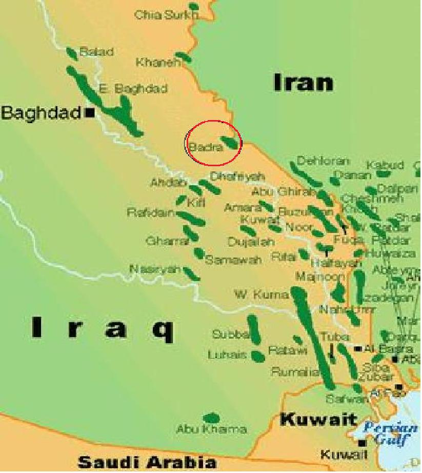 Samsung harvests 19 billion Russian contracts in Iraq – Map of Iraqi Oil Fields