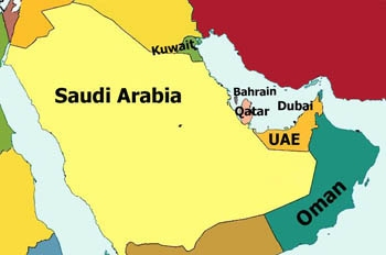 the six gcc countries are