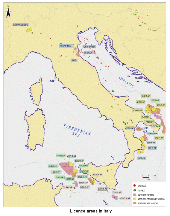 Oil and gas companies in italy