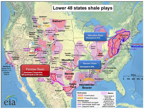 Tight Oil - Us shale plays map eia