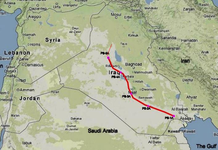 SCOP_Iraq_Jordan_BOOT_Export_Pipeline_Section-1_Map