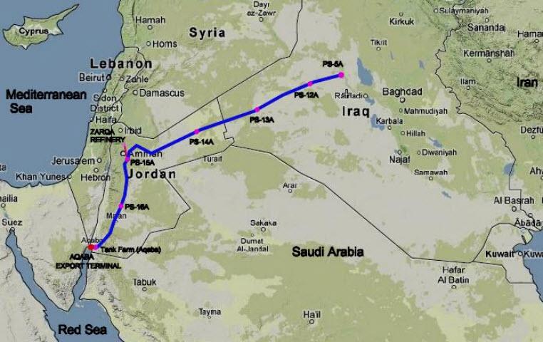 SCOP_Iraq_Jordan_BOOT_Export_Pipeline_Section-2_Map