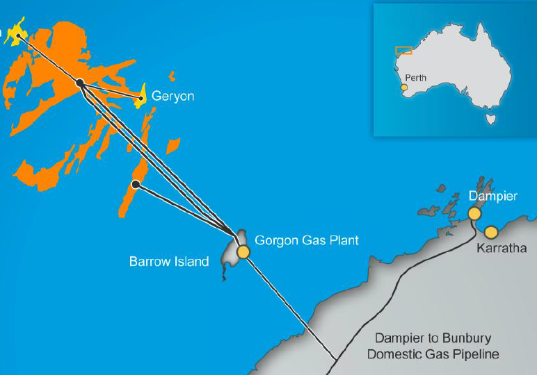 Chevron harvests gas discoveries in Australia Greater Gorgon