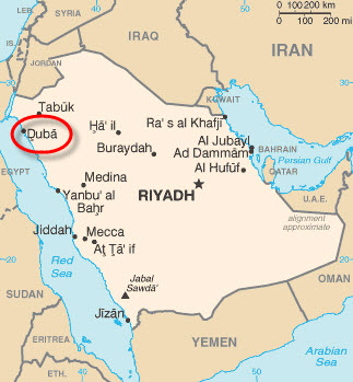 Saudi-Aramco-Midyan-Duba-Project-map