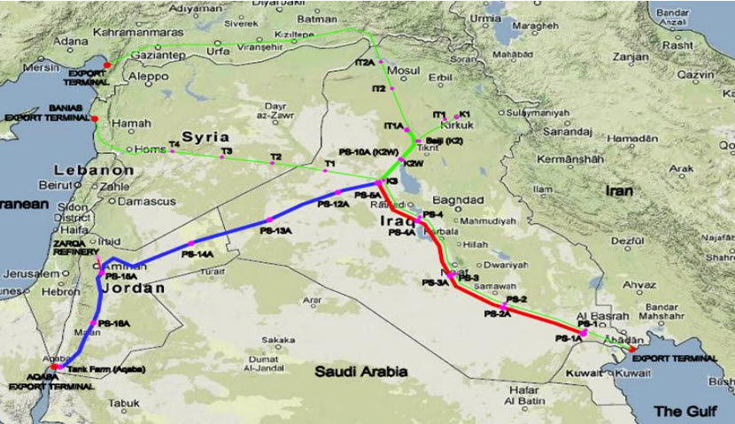 SCOP_Iraq_Jordan_Strategic_Crude_Oil_Export_Pipeline_Infrastructure_Project_Map
