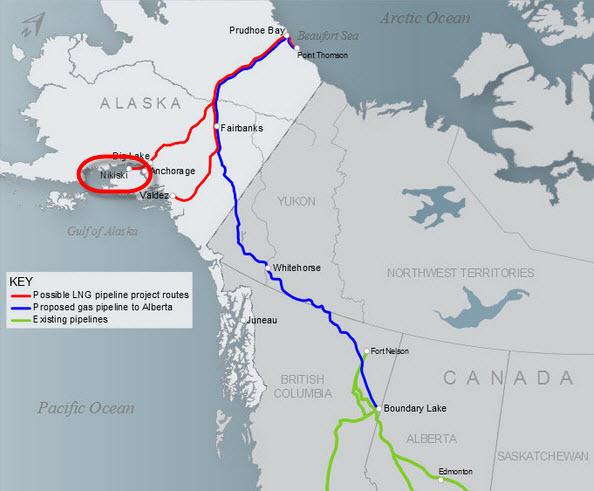 Exxon, BP, Conoco shape Nikiski Kenai Peninsula Alaska SC LNG