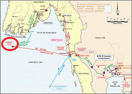 Yadana gas field Total and Chevron prepare Myanmar Yadana Expansion