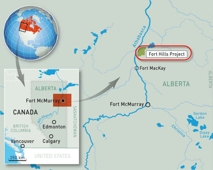 Suncor-Total-Teck_Fort-Hills_Oil_Sands_Mine_Project_Map