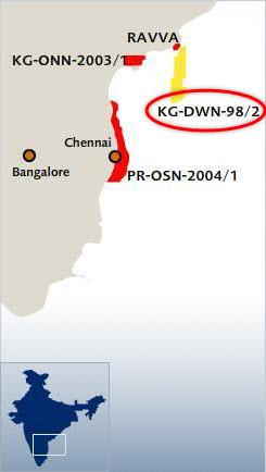 ONGC_KG-DWM-98-2_Offshore_Krishna-Godavari_FEED_Project_Map