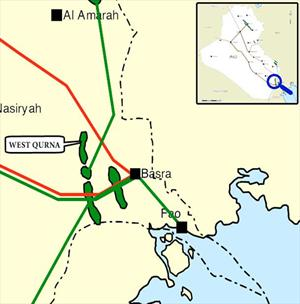 Shell_South-Gas_BCG_Iraq_LNG-Plant_Saipem_FEED_Map