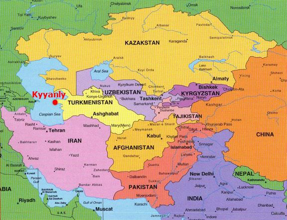 Kazakhstan_Turkmenistan_Projects_Map