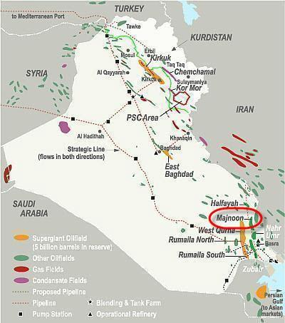 Shell-Petronas-SOC_Foster-Wheeler-Kentz_Majnoon_Full-field-Development_Map