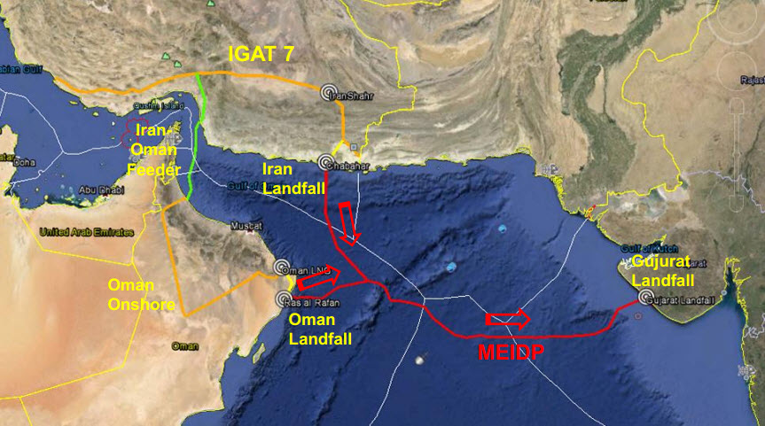SAGE_Middle-East-to-India-Deepwater-gas-Pipeline_MEIDP_Project_map