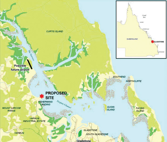 Gladstone_LNG_Fisherman_Landing_LNG_Project_Map