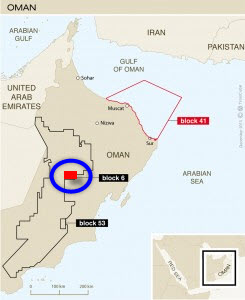 PDO_Shell_Oman_Khulud_Thigh_Gas_Pilot_Project_Block-6_Map