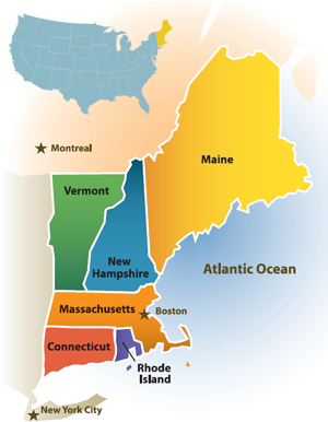 Spectra Atlantic Bridge To Pipe Marcellus Gas To New England - Us new england map