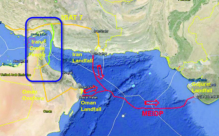Iran-To-Oman_Gas-Pipeline_Map