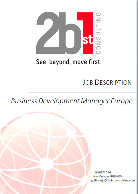 BSt Consulting Recruits Business Development Manager Europe